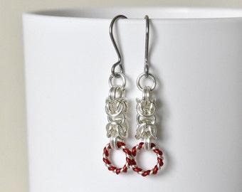 Silver Earrings - Drop Earrings - Dangle Earrings - Hypoallergenic - Chainmaille - Chain Earrings - Christmas Jewellery - Gift for Her
