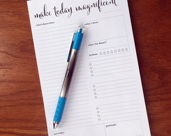 Daily planner notepad with no hours printed, daily planning note pad, day scheduler pad, daily schedule, Daily agenda, daily docket