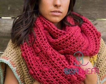Patrón crochet CUELLO INFINITO POCHOCLOS