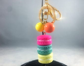 Macaroon Charm in Multi-Colors with 2 classic clasps and Wristlet