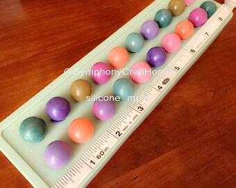 20 Mini Ball silicone mold, silicone mold, round silicone mold, silicone soap mold, embed ball silicone mold