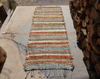 Shag Rag Rug in Earthy Colors