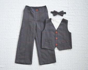 Newsboy Vest and Bow Tie Set