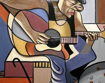 Singing The Blues poster Print Music Guitar  Anthony Falbo