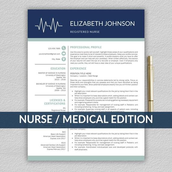 Krankenschwester-Lebenslauf-Vorlage für Word / medizinische