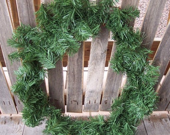 20 inch PVC pine wreath,basic pine, ready to decorate,Christmas,holiday,embellish