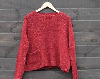 Hand knit sweater Oak