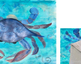 Blue Crab Baby Crib Blanket or Comforter