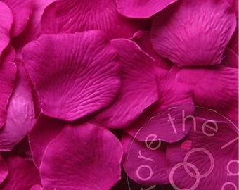 Raspberry Silk Petals {Package of 100} //// Silk Flower Petals, Silk Rose Petals