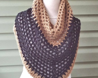 SALE / Chunky Infinity Cowl, Large Cowl, Purple - Ready to Ship