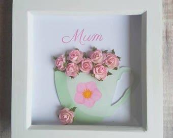 birthday present for mum, mums birthday, flowers in frame, present for mum,
