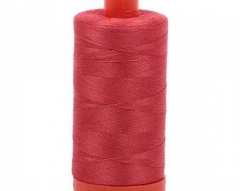 Dark Red Aurifil Mako Cotton Thread Color 2255, 50 wt, 1300m, 1 spool
