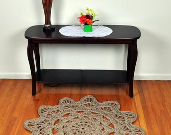 Large Mandala Rug - Jute Rope Rug - Flower Rug for Entryway or Foyer - Handmade