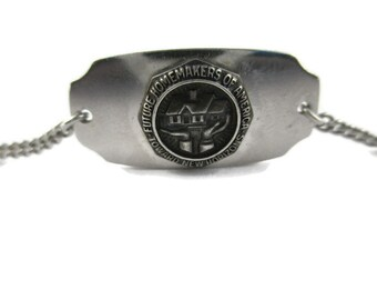 1945 Future Homemakers of America * Towards New Horizons * Lloyd G Barfour (LGB) 925 Sterling Silver Bracelet