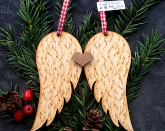 Laser Cut  Angels Wings Decoration