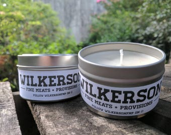 BBQ FAT CANDLE made from the rendered fat from the bbq I smoke. Enjoy the subtle aroma of bbq year round. Great gift for a bbq enthusiast!