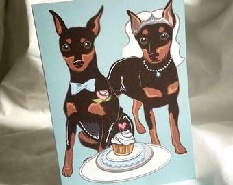 Wedding Min Pins - Greeting Card
