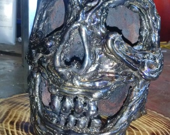 Metal skull art