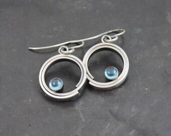 Inga Sterling Silver & Blue Topaz Earrings