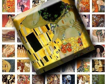 1x1 inches - Gustav Klimt Art Works to be used in your scrabble tiles, pendants etc.