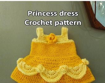 Princess dress. Crochet pattern. Digital download