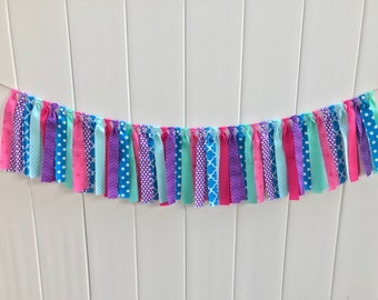 Shimmer and Shine banner, shimmer and shine birthday, shimmer and shine party, fabric banner, scrappy banner, birthday banner, photo prop