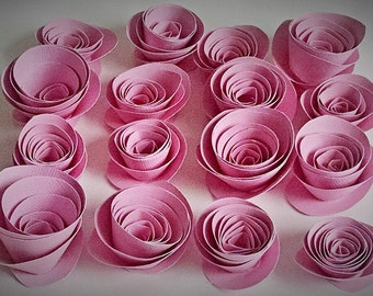 Pink Paper Flowers - Paper Roses - Valentines Day Decoration