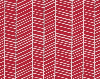 Fabric by the Yard =-- Joel Dewberry True Colors Herringbone in Pink