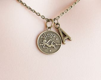 Virgo Zodiac Sign Astrology Necklace, star sign charm, Virgo necklace, star sign necklace, star sign necklace, august and september birthday