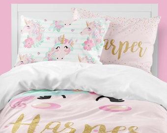 Girls Bedding Etsy