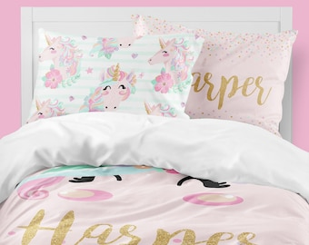 Unicorn Girls Room, Unicorn Girls Bedding, Twin Duvet Covers, Toddler  Comforter, Girl Queen Duvet Cover, Bedding Sets Kids, Teen Bedding