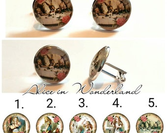 Alice in Wonderland Cufflinks- 5 designs to choose from.