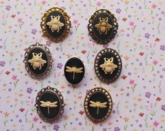 Queen Bee Dragonfly Things With Wings Small Steampunk Fantasy Lolita Cosplay Cameo Brooch