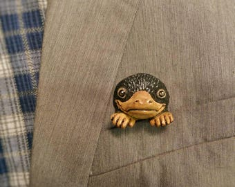 """Handmade Miniature Brooch Cute Pocket Niffler from """"Fantastic Beasts and Where to Find Them"""" OOAK Gift Jewelry Accessories"""