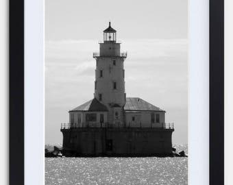 Chicago Harbor Lighthouse - Framed Print
