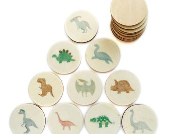 dinosaurs - memory match | my little set | wooden game | story stones | memory match |