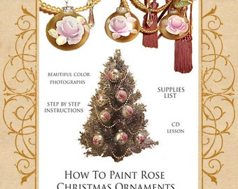 How To Paint Shabby n Chic Rose  Ornaments  Make Sell Teach