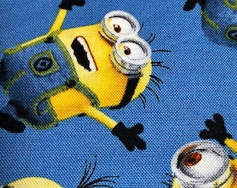 Fabric by the Yard - Despicable Me Minions on blue