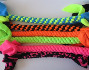 FREE SHIP Fleece rope dog tug chew fetch toy Fluorescent Extra Large