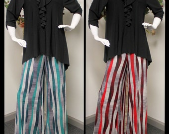 New Striped Palazzo Pants lagenlook Plus Size 1XL TO 3XL.