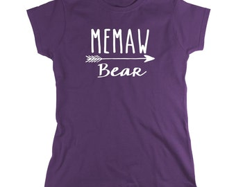 Memaw Bear Shirt - new grandma, new baby, gift for memaw, mother's day gift - ID: 1912