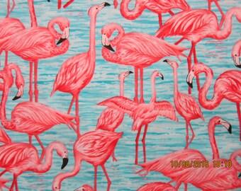 FLAMINGO FABRIC Debi Hron for Timeless Treasures Fabric - Rare - 1 Yard - #KR25