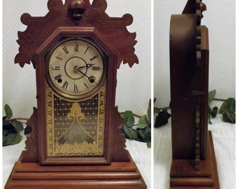 1881 Antique Gingerbread Kitchen Clock The E Ingraham & Co