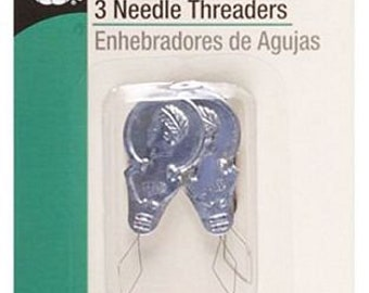 Needle Threaders, 3 Count Package, D249, Dritz Sewing