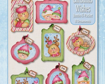 Christmas Wishes Ornaments Painting E-PATTERN
