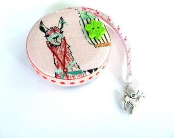 Measuring Tape Llamas on Pink Retractable Tape Measure