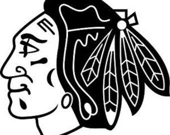 Chicago Blackhawks Vinyl Decal