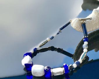 Howlite and Sodalite Bracelet