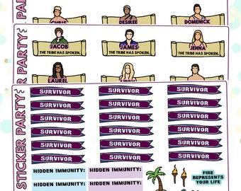 Survivor Ghost Island Survivor TV Show Planner Stickers Kit