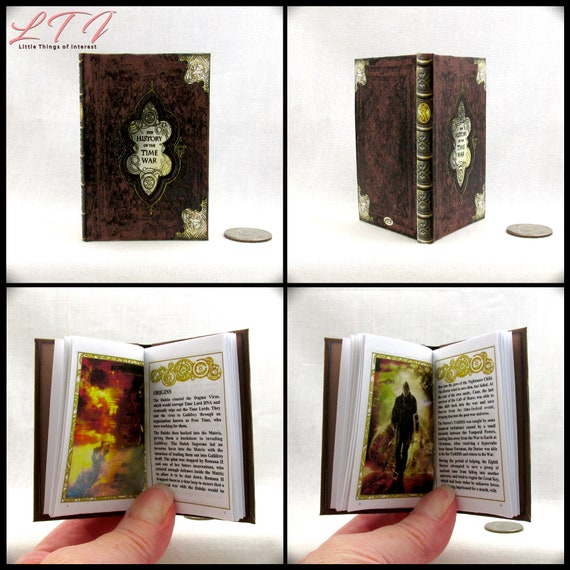 """The HISTORY Of The TIME WAR Illustrated Readable Book 1:3 Scale Miniature Book 18"""" American Girl Doctor Who Time Lord Time Traveling Tardis"""